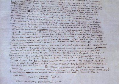 KURT COBAIN l'ultima lettera